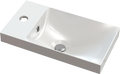 Small cast marble washbasin ANDRIA