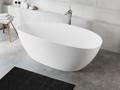 Cast marble bathtub AURIGA with overflow