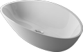 Countertop cast marble washbasin AURIGA