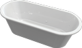 Cast marble bathtub COLUMBA