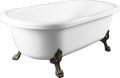 Cast marble retro bathtub CORONA 1750