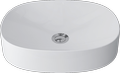 Countertop cast marble washbasin EDEN OVAL