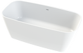 Cast marble bathtub EDEN with overflow