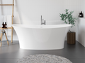 Cast marble bathtub LIBRA with overflow