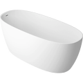 Cast marble bathtub MIRA with overflow