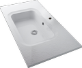 Cast marble structured washbasin NATURA F