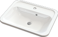 Inset or under-counter washbasin STELLA Rect II