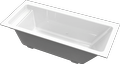 Cast marble bathtub SCORPIUS