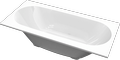 Cast marble bathtub SERPENS