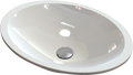 Cast marble countertop or inset washbasin Stella Oval