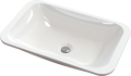Inset or under-counter washbasin STELLA Rect