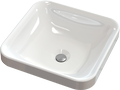 Inset cast marble washbasin TRULLA Square