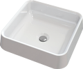 Countertop cast marble washbasin CAMELO Square