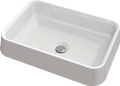 Countertop cast marble washbasin CAMELO Rect
